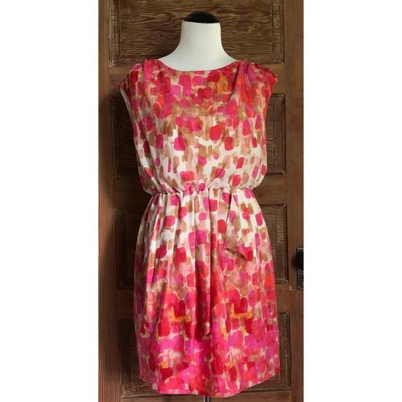 9d8327bf32c6 Eliza J Dresses & Skirts - Eliza J Pink White Watercolor Party Dress Size  12P
